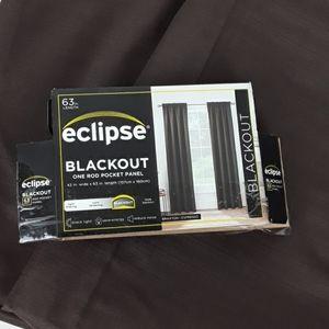 Eclipse Blackout Curtain Panels 42x63 Brown